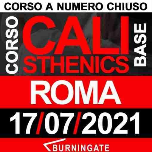 ROMA 17 luglio 2021 CORSO CALISTHENICS BASE