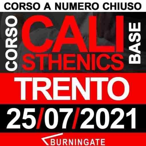 TRENTO 25 luglio 2021 CORSO CALISTHENICS BASE