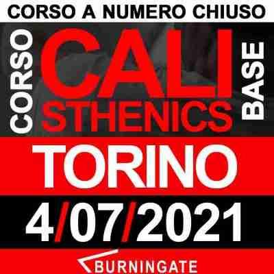 Torino 4 luglio 2021 CORSO CALISTHENICS BASE