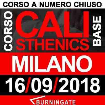 corso calisthenics milano 2018