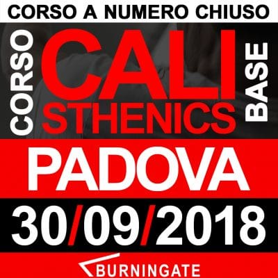 corso calisthenics padova 2018