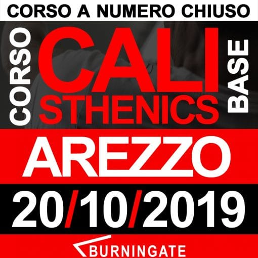 CORSO CALISTHENICS AREZZO 20 OTTOBRE 2019