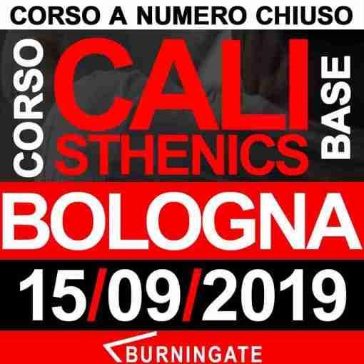 CORSO CALISTHENICS BOLOGNA 15 SETTEMBRE 2019