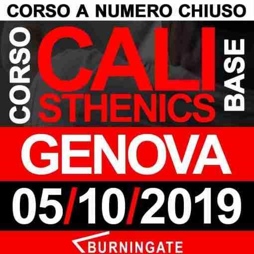 CORSO CALISTHENICS GENOVA 05 OTTOBRE 2019