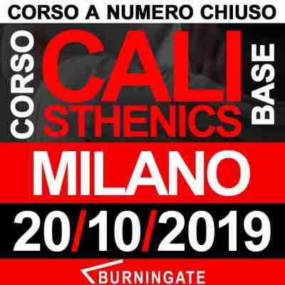 CORSO CALISTHENICS MILANO 20 OTTOBRE 2019