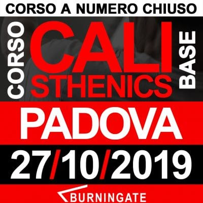 CORSO CALISTHENICS PADOVA 27 OTTOBRE 2019