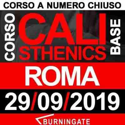 CORSO CALISTHENICS ROMA 29 SETTEMBRE 2019
