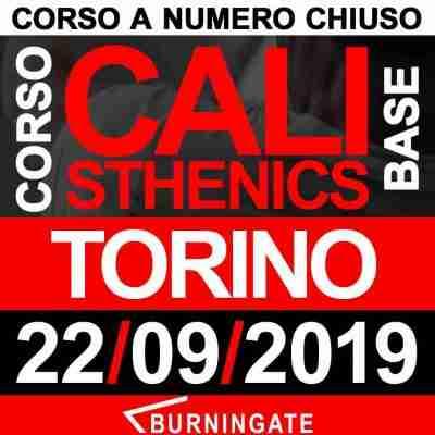 CORSO CALISTHENICS TORINO 22 SETTEMBRE 2019