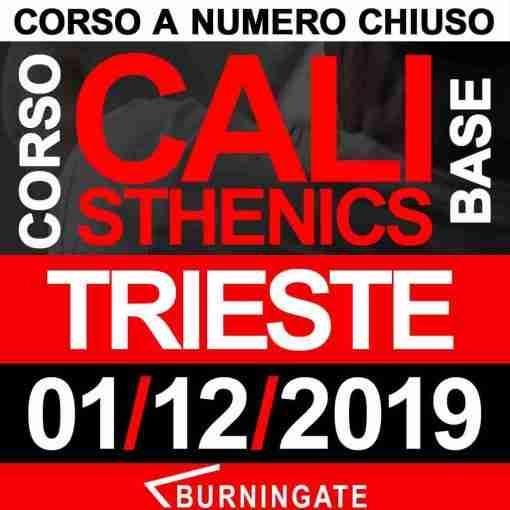 CORSO CALISTHENICS TRIESTE 1 DICEMBRE 2019